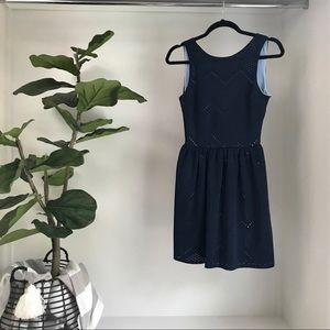 Love...ady blue mini dress with open back Small